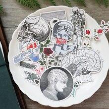 16 adet/torba önemsiz dergisi kemik serisi sticker DIY scrapbooking hafta albümü günlüğü mutlu planlayıcısı dekorasyon çıkartması