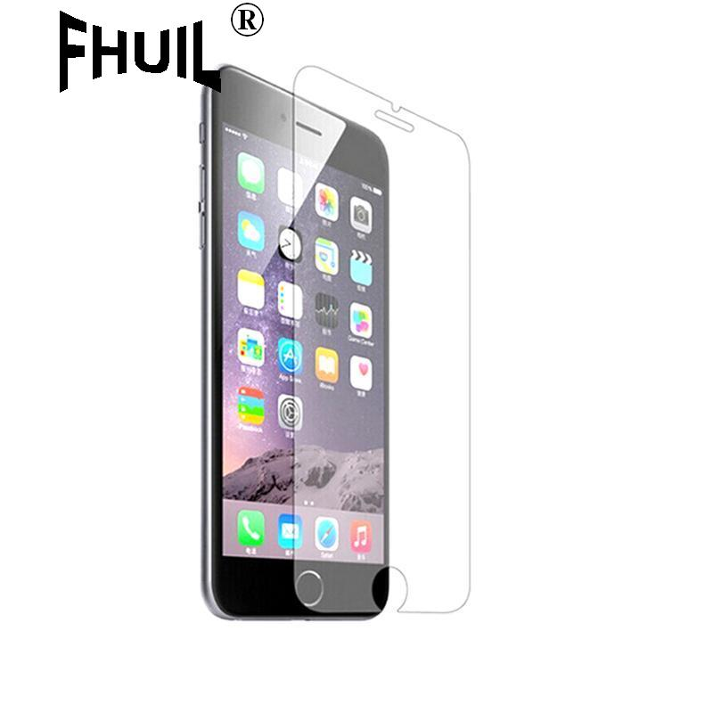 FHUIL Hot Selling High Quality Tempered Glass  Protection For iPhone 6 6s plus  Screen Protector  free shipping