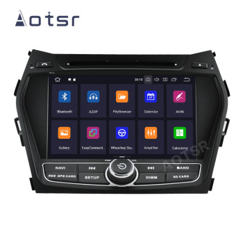 AOTSR 2 Din Android 10 Car Radio For Hyundai IX45 Santa Fe 2014 - 2018 Central Multimedia Player GPS Navigation 2Din Autoradio image