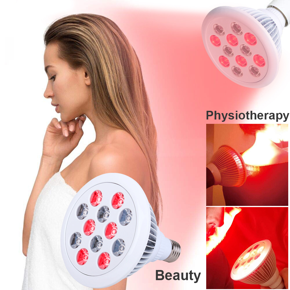 LED Bulb LED Lights For Skin And Pain Relief Red Light Infrared Therapy 660nm 880nm LED Lights For Muscle Neck Pain Free D35