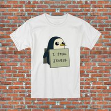 I Steal Jewels Gunter Adventure Time Penguin TV Show Inspired Tops Tee T Shirt S-2XL T-Shirt Vintage Graphic(China)