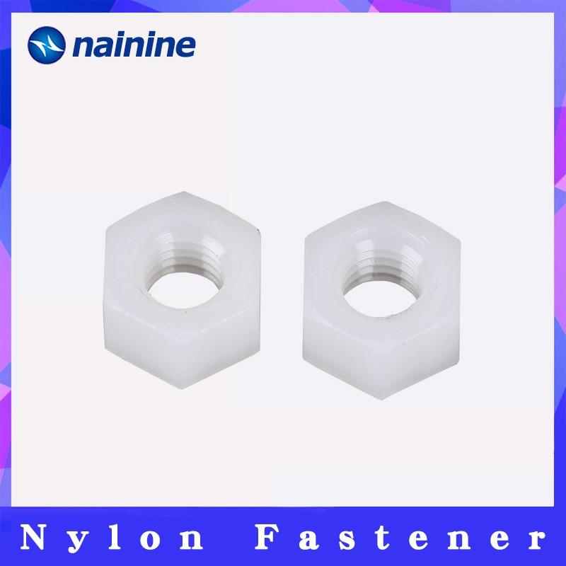 [M2-M20] PA66 нейлоновые шестигранные гайки, шестигранные пластиковые гайки DIN934