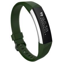 Fitbit-Reloj de pulsera de repuesto de 14 colores, pulsera pequeña de cristal de Alta calidad con cierre de correa de silicona para Fitbit Alta HR