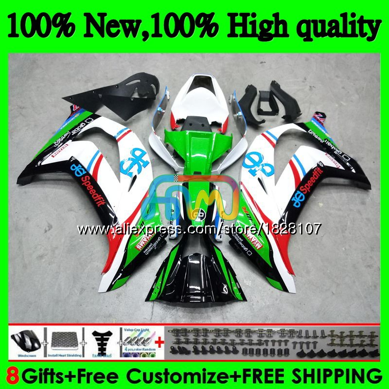 Injection For KAWASAKI ZX-10R 1000CC ZX1000 ZX 10 R 26BS.<font><b>63</b></font> ZX 10R <font><b>1000</b></font> ZX10R 16 17 18 2016 2017 2018 OEM Fairings Factory green image