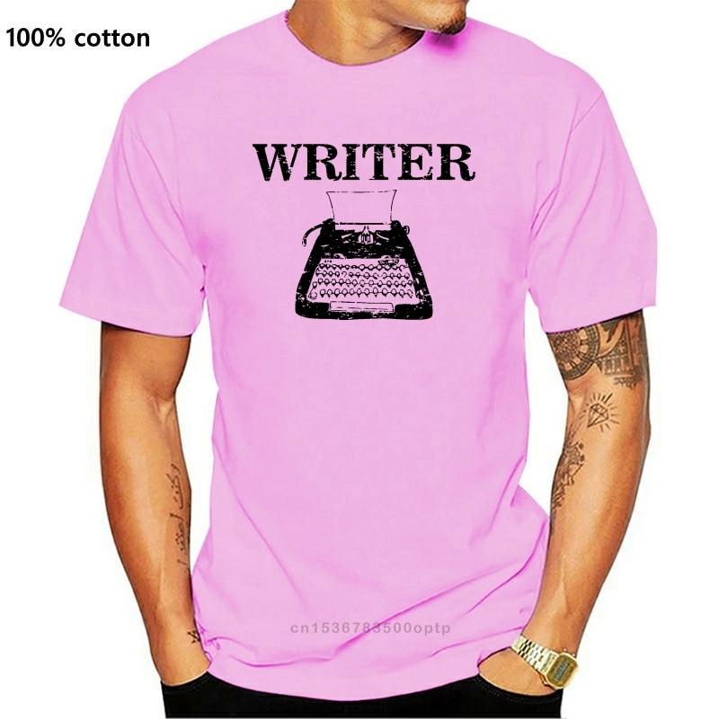 Camisa masculina t writer máquina de escrever clássica autor escrevendo engraçado camiseta novidade tshirt feminino|Camisetas|   -