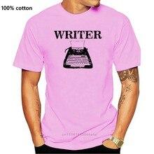 Camisa masculina t writer-máquina de escrever clássica-autor escrevendo engraçado camiseta novidade tshirt feminino