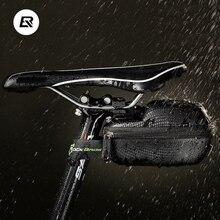 RockBros Leather Bicycle Saddle Bag Saddlebags MTB Road Bike Seat Waterproof Cycling Cycle Portable Case