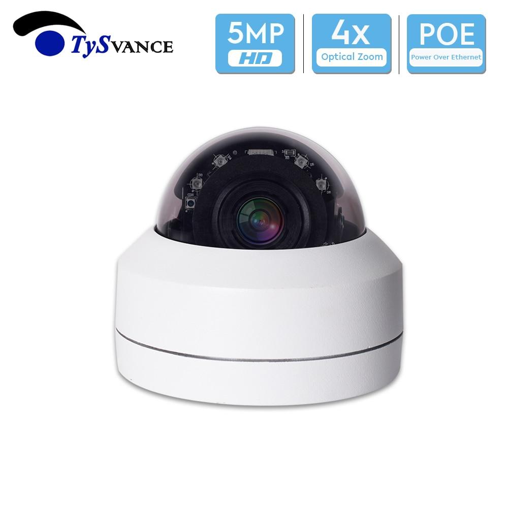5MP HD IP Security Camera PTZ Onvif Infrared Onvif PoE Network H.265 4X Zoom IR