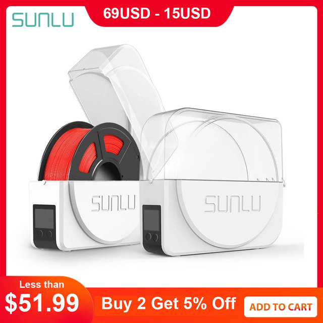 SUNLU 3D Filament Dryer Keep Filament Dry Storage Box 3D Printer Good Parneter FilaDryer S1