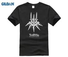 GILDAN NieR Automata PS4 Men T shirt Yorha For The Glory Of Mankind Tee Shirt Homme Print Cotton Summer Short Sleeve