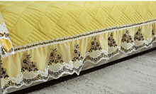 Winter crystal velvet sofa cushion, fabric non-slip European plush cover, universal cushion