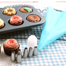 14pc/set Dessert Decorators Silicone Icing Piping Cream Pastry Bag Stainless Steel Nozzle for Tool new