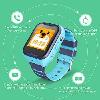 A36E 4G smart kids watch waterproof IPX7 Wifi GPS Video call Monitor Tracker clock Students Wristwatch kids children GPS watch 5