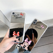 Fashion Mirror Phone Case For Samsung Galaxy S10 S10plus S9 S9plus S8 S8plus Coque For iphone 11 pro max XR X XS MAX 6 7 8 plus