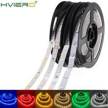 5m 2835 não impermeável led strip rgb luz dc 12v 300leds flexível corda de iluminação do feriado decoração para casa fita lâmpada de mesa