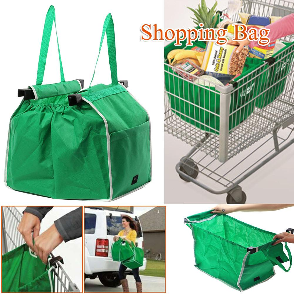 1 pc Convenience Shopping Bag Foldable Eco-friendly Reusable Large Trolley Supermarket Large Capacity Tote Bag bolso(China)