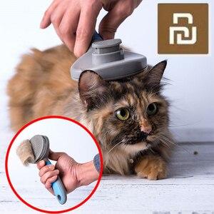 Image 2 - Youpin pet gato escova de remoção do cabelo pente pet grooming ferramentas cabelo derramamento trimmer pente para gatos