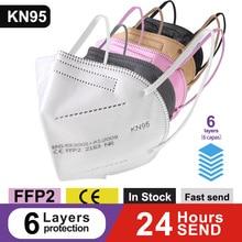6 слоев FFP2 KN95 маски одобренные CE многоразовые FPP2 маски FFPP2 маски черные KN95 респираторные маски FPP3 FFP2 маска с фильтром