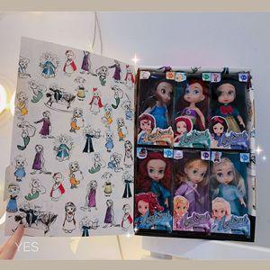 Image 5 - 6 teile/satz Prinzessin Puppe Schnee Weiß Meerjungfrau Lange Haar Prinzessin Glocke Spielzeug Puppen für kinder Geburtstag Geschenke Auf Lager