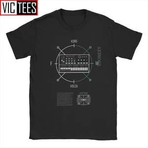 Men Volca FM Round Korg Volca T Shirt Synthesizer Music Synth Electro Modular Techno Cotton Winter Tshirt(China)