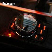 Multimídia carro Botão Guarnição Tampa Maçaneta Etiqueta para BMW F10 F18 F07 F06 F12 F20 F21 F30 F35 F01 F02 F25 F26 Para NBT Controlador