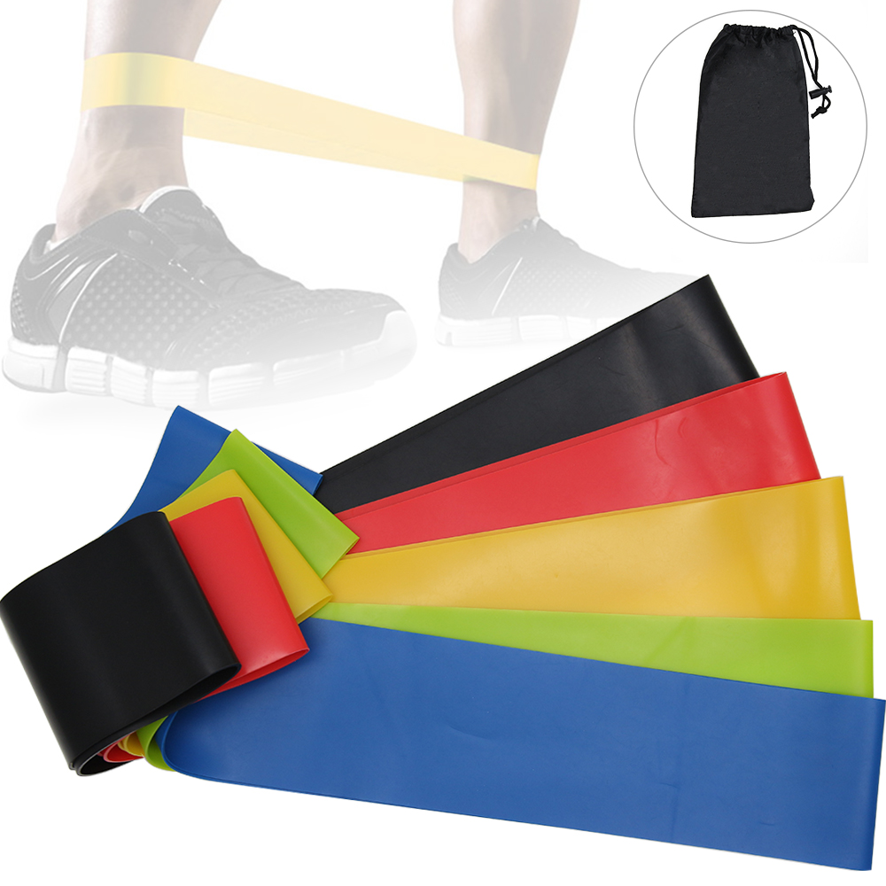 5PCS Set Resistance Bands Elastic Band For Fitness Rubber Sport Yoga Exercise Home Gym Rubber Workout Women Dropship