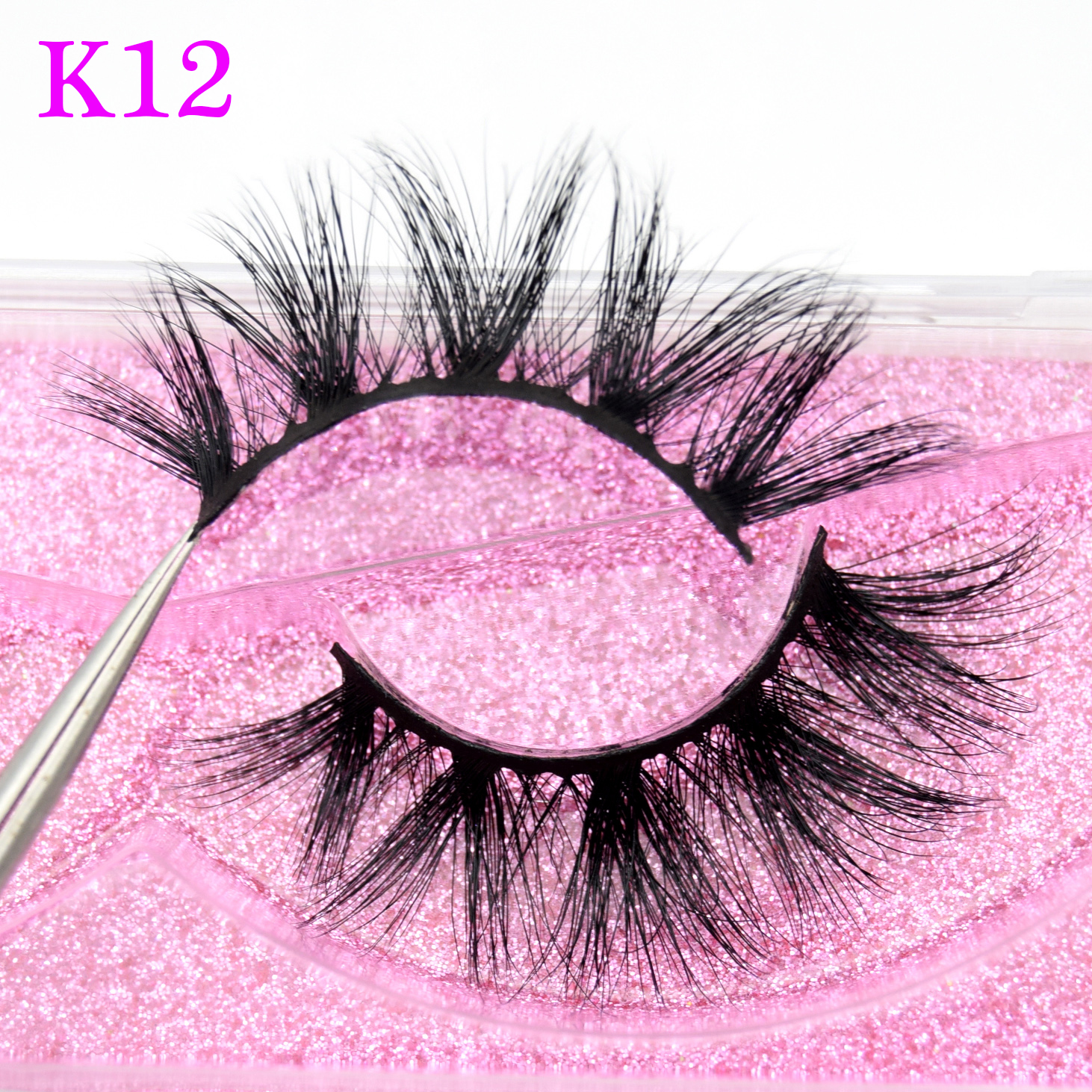 Visofree  Lashes Thick Long 5D Mink Eyelashes Handmade Mink Lashes Natural Dramatic Volume Eyelashes Extension 3D False Eyelash