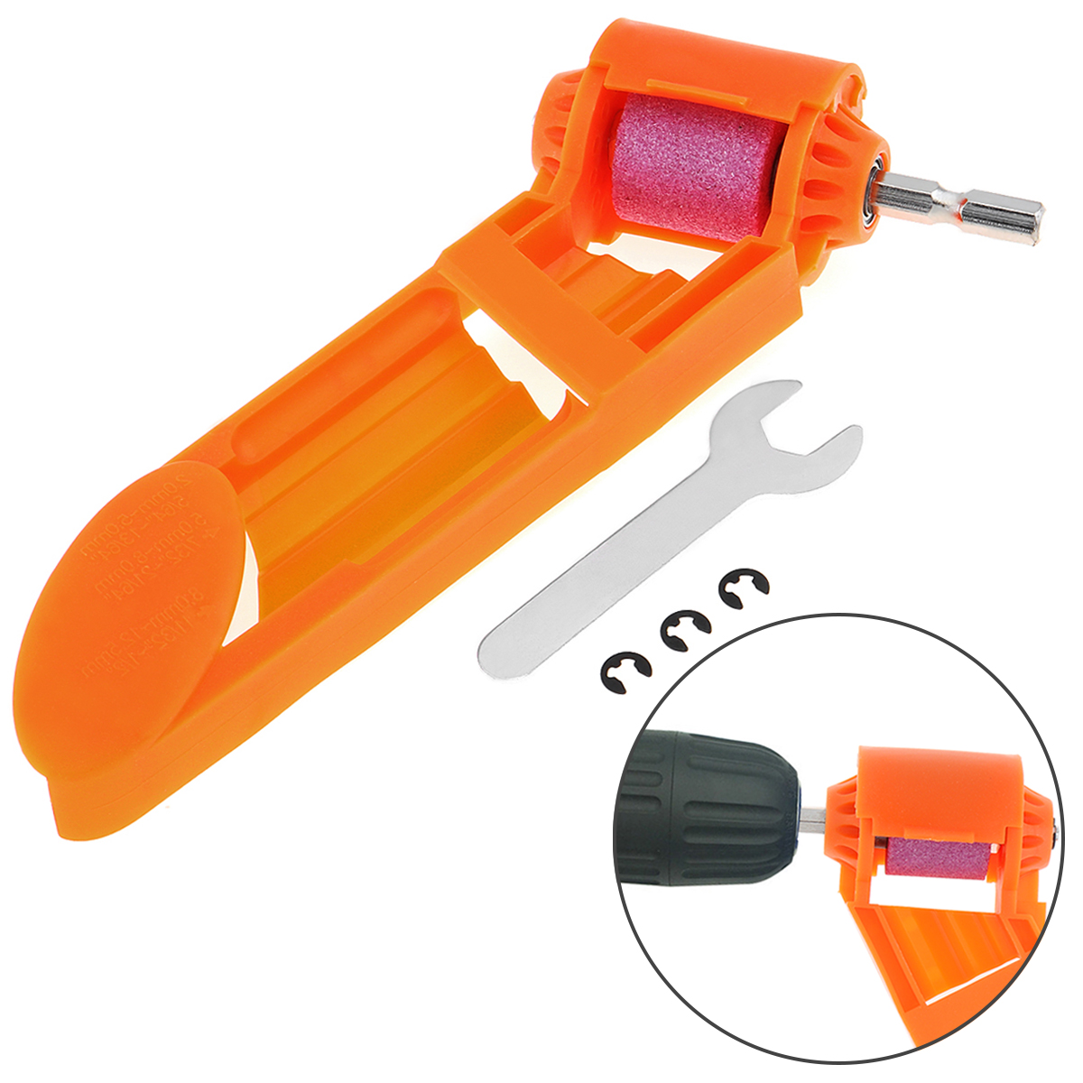 2-12.5mm Drill Bit Sharpener Portable Corundum Grinding Wheel Tool With Buckle For Polishing Drill Bit Sharpener