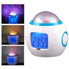 Children Room Sky Star Night Light Projector Lamp Alarm Clock sleeping music Multifunctional Clock Calendar week display cheap RecabLeght Atmosphere Ball CN(Origin) JJ3339-00 Plastic Switch Rechargeable Battery HOLIDAY