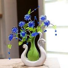 Europejskiej wazony ceramiczne nowoczesne zakontraktowane TV arka salon kreatywny wazon domu prezenty ślubne dekoracje sztuki i