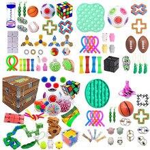 32 pçs pacote de brinquedo sensorial fidget conjunto brinquedos alívio do estresse autismo ansiedade alívio estresse pop bolha brinquedo sensorial para crianças adultos