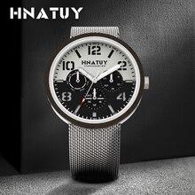Hnatuy Men's Watches Wrist Quartz Men Watch Waterproof 50M Water Resistant Mens Watches Fashion & Casual Wooden Movement Watch