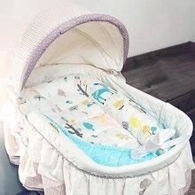 Детская переносная люлька, кровать, туристическая детская кроватка, детская кроватка, спальная коляска для коляски, кровать, защитная подушка