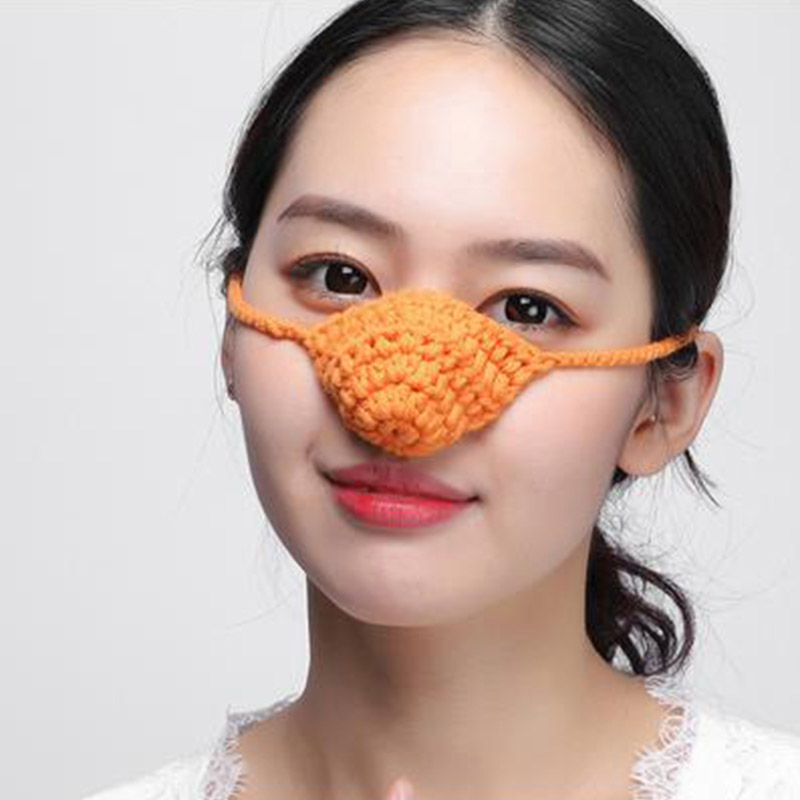 Personality Wool Protective Mask Nose Warm Warm Breathable Men And Women Sleep Sleep With Protective Masks