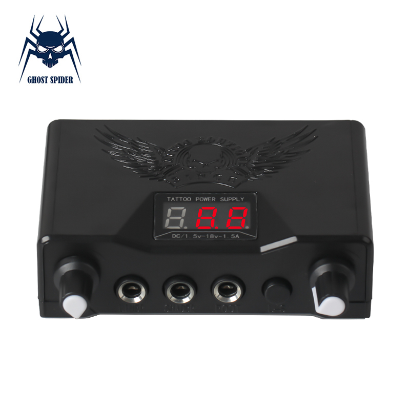 GHOST SPIDER Professional Dual Modulation Tattoo Power Supply For Tattoo Machine Pen Free Shipping