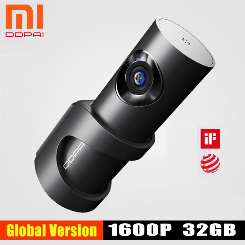 Xiaomi Mijia DDPai Mini3 DDPai Traço Cam Câmera 32GB Inglês eMMC Gravação 1600P HD 24H Monitor de Estacionamento versão Global