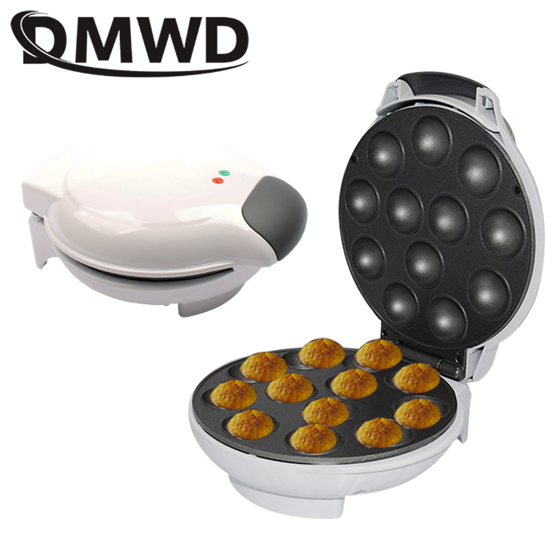 DMWD Electric Egg Tarts Baking Machine Automatic Mini Cup Cake Waffle Maker Toaster eggs bread Eggettes Puff Oven Grill EU Plug