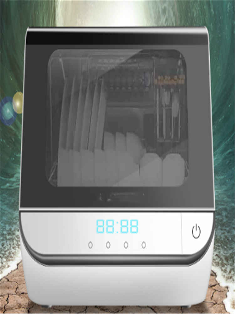 Dish-Wash-Machine Household-Dish Desktop Fully-Automatic Small 23L Heat-Disinfection