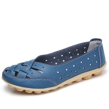 Shoes Woman Genuine-Leather Sandals Ballet-Flats Beckywalk Plus-Size Casual Summer 35-44