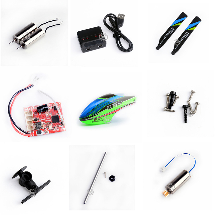 Weili V911S Remote Control Helicopter Accessories Receiver Tail Motor Steering Gear Fan Blade Phone Case Gear