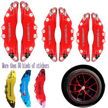 KUNBABY Red Blue Yellow Metal Disc Brake Caliper Cover With Sticker Front And Rear For All Car Models Free Shipping