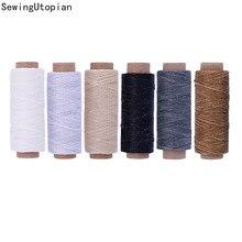 12/30/50M 150D 1mm skóra woskowana nić przewód do rękodzieło DIY narzędzie nici do szycia ręcznego, płaski, woskowany, skóra nici do szycia linii