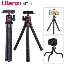 Trípode MT 11 de pulpo para cámara DSLR, brazo mágico desmontable, cabeza de bola, Zapata caliente, Clip para teléfono