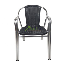 Outdoor-Chair Furniture Rattan Garden Aluminum Stackable Wicker Patio Double-Tube Dining