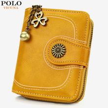 VICUNA POLO Short Design Fashion Leather Ladies Wallet Large Capacity Womens Card Holder Multifunction Coin Purse Female