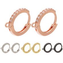 ZHUKOU Красивая 14x16 мм круглые серьги со стразами для женщин, сделай сам, ювелирные изделия ручной работы модные золотые серьги модели: VE84