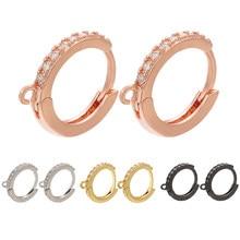 ZHUKOU – boucles d'oreilles rondes en cristal pour femmes, accessoires de bijoux faits à la main, à la mode, en or, 14x16mm, modèle VE84