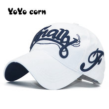 YOYOCORN Unisex moda bawełniana czapka baseballowa czapka typu snapback dla mężczyzn kobiety kapelusze przeciwsłoneczne kości gorras haft wiosna czapki hurtownie