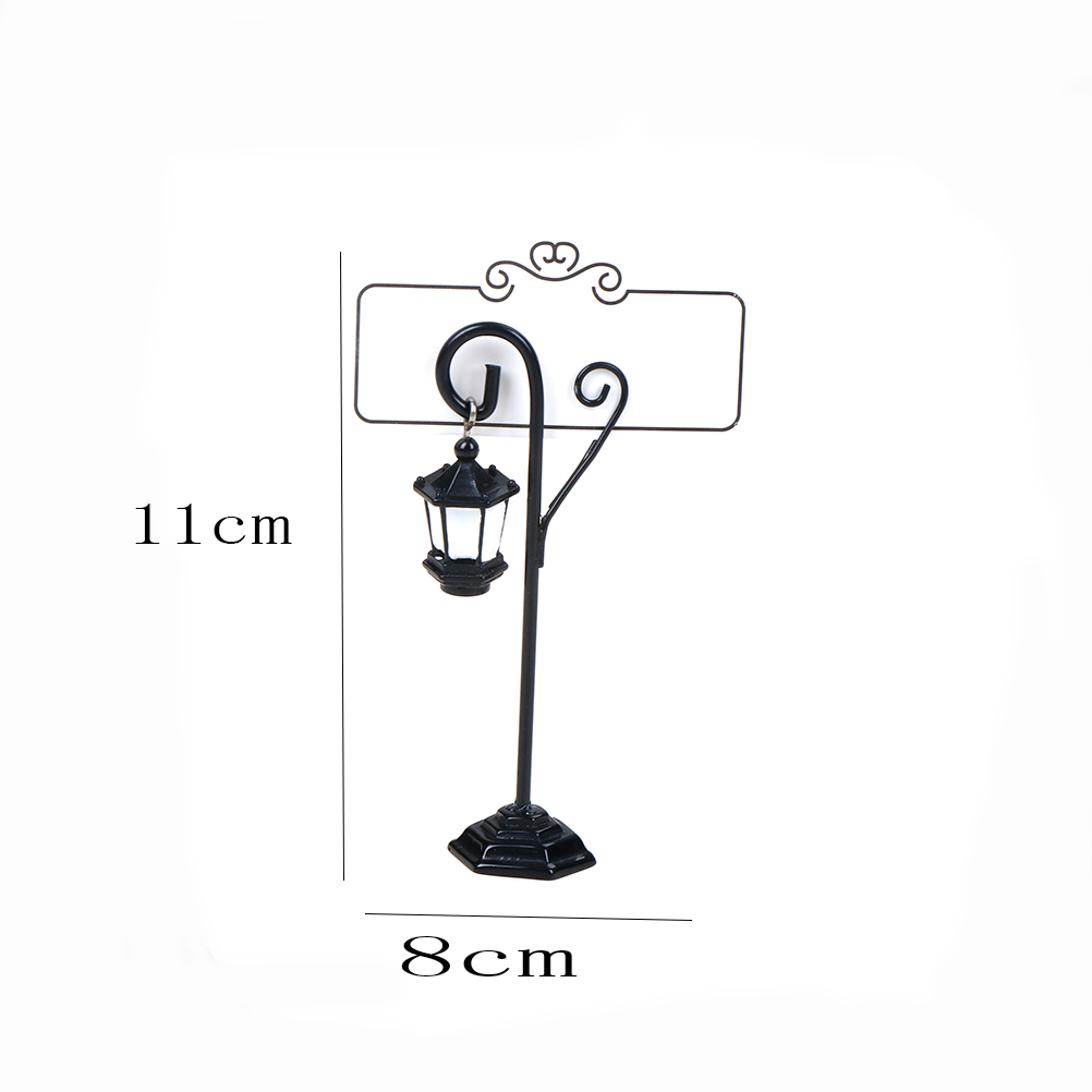 1Pcs Table Number Place Name Photo Card Stand Miniature Decorations Easel Wedding Streetlight Table Marker Holder Clips
