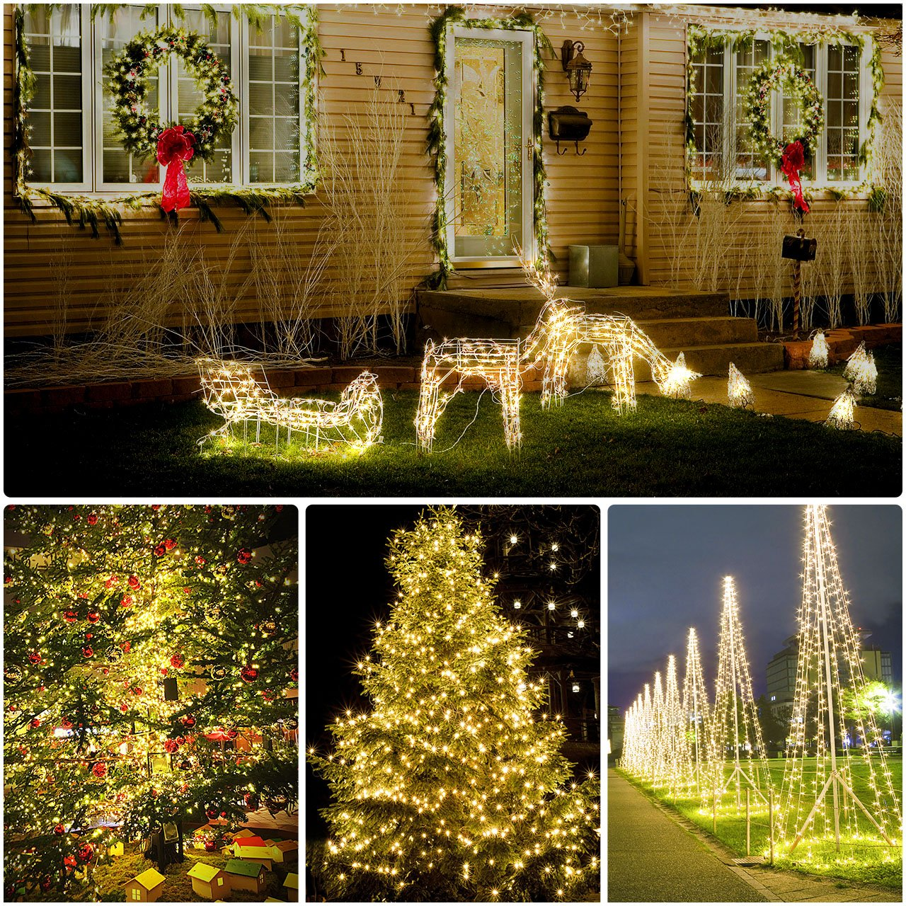 72ft 200 LED Solar String Lights Outdoor Waterproof Light Fairy Lights for Patio Garden Yard Party Wedding Backyard Decor in Lighting Strings from Lights Lighting
